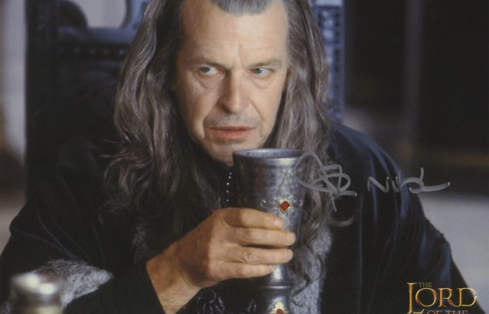 Signed 8x10 John Noble (Lord of the Rings) A