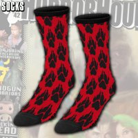 Red Paw Print Socks